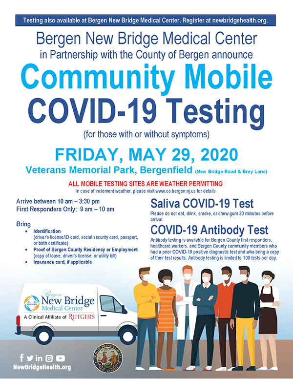 COVID-19 mobile testing on May 29, 2020